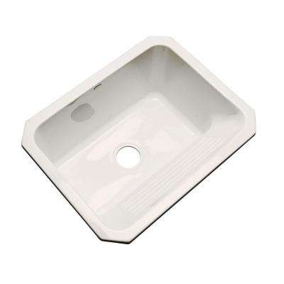 Kensington Undermount Acrylic 25 in. Single Bowl Utility Sink in Bone