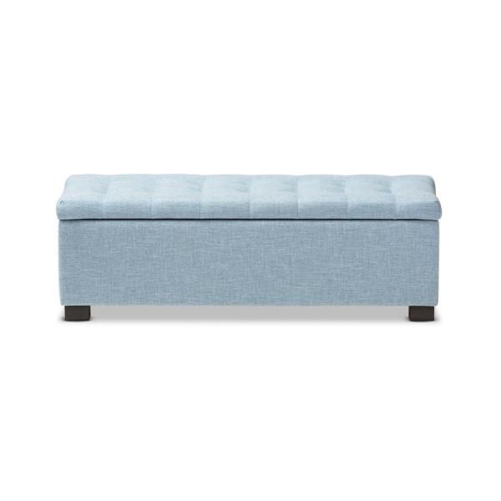 Baxton Studio Roanoke Light Blue Bench
