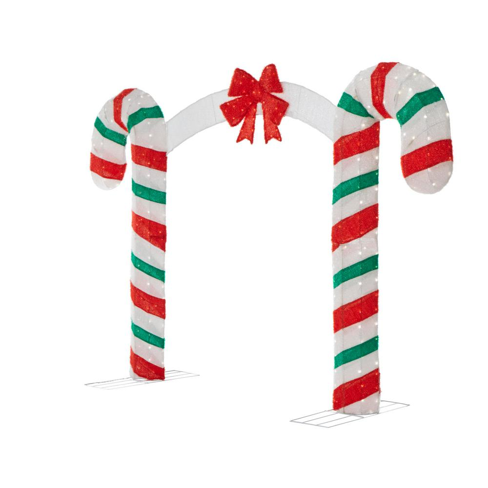Christmas Candy.Candy Cane Lane 84 In H X 120 In W 350 Lights Christmas Candy Cane Archway