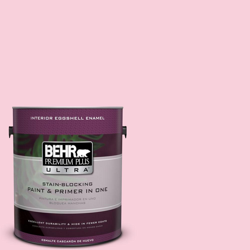 BEHR Premium Plus Ultra 1-gal. #120C-1 April Blush Eggshell Enamel Interior Paint