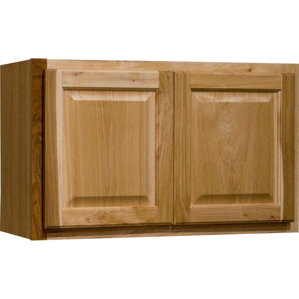 Hampton bay hampton assembled 30x18x12 in wall bridge for Assembled kitchen units