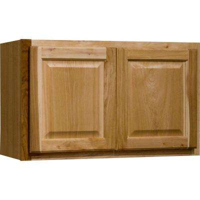 Hampton Assembled 30x18x12 in. Wall Bridge Kitchen Cabinet in Natural Hickory