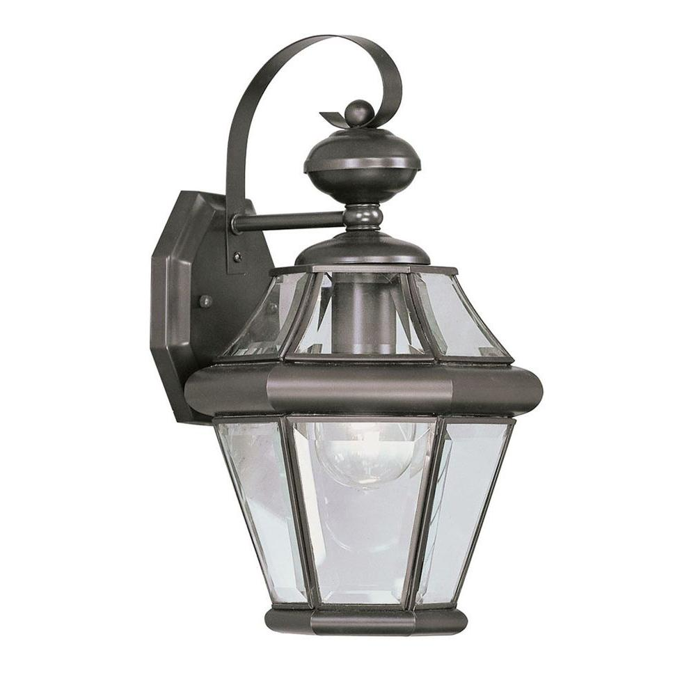 Providence Wall-Mount 1-Light Bronze Outdoor Incandescent Lantern