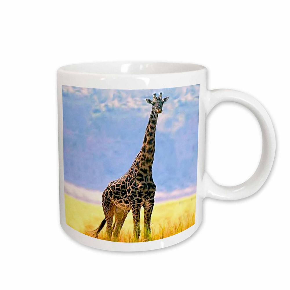 White Ceramic Giraffe Mug