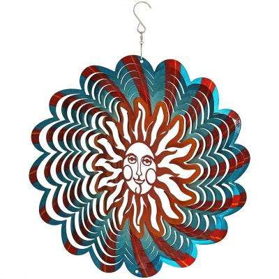 12 in. 3D Reflective Multi-Color Sun Whirligig Wind Spinner