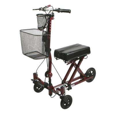 Weil 3-Wheel Knee Walker in Burgundy