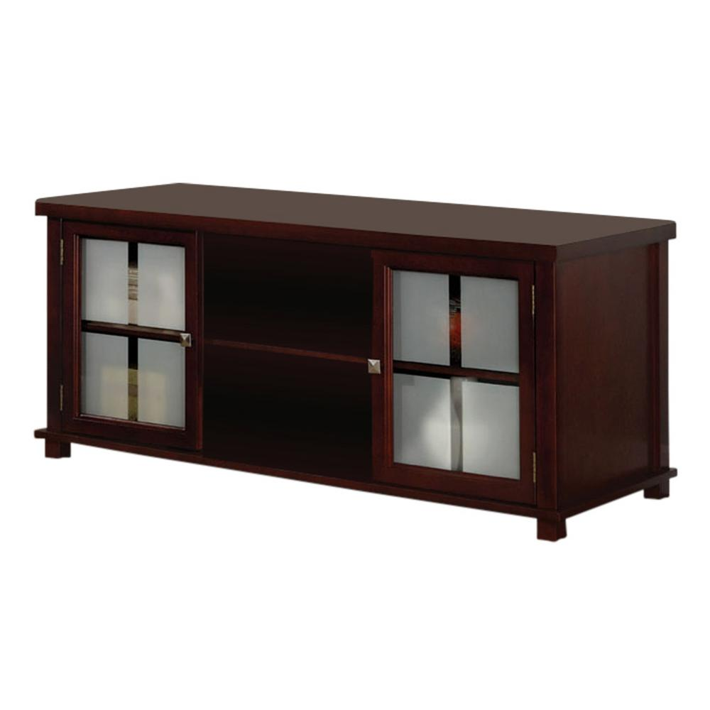 Brands Of Furniture: Kings Brand Furniture Cherry TV Stand With Storage-8184E
