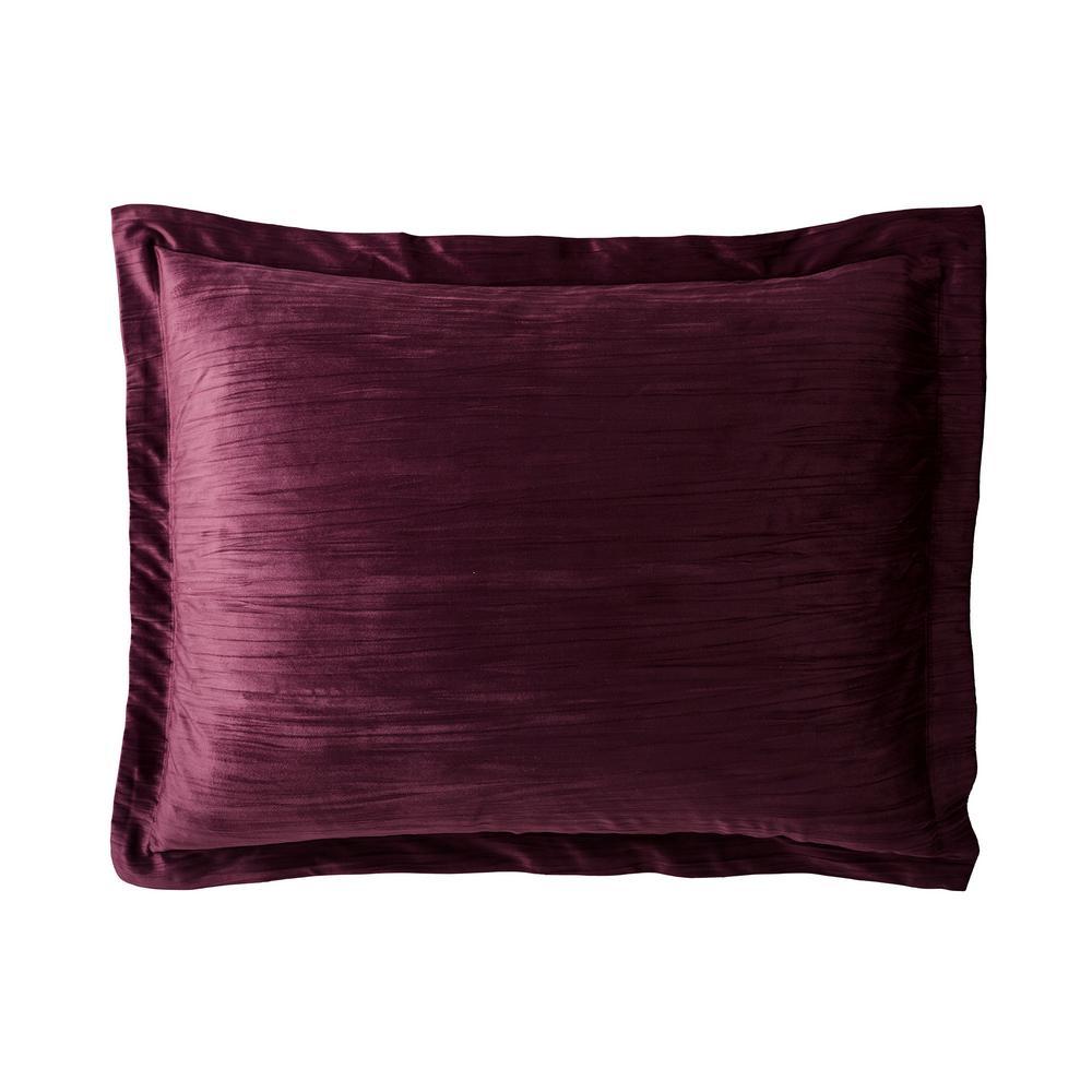 Easton Velvet Cotton Blend Standard Sham in Burgundy