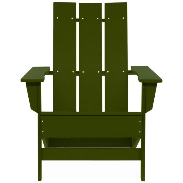 Aria Forest Green Recycled Plastic Modern Adirondack Chair