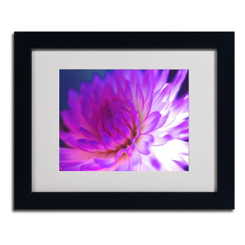 null 11 in. x 14 in. Mod Dahlia Matted Framed Art