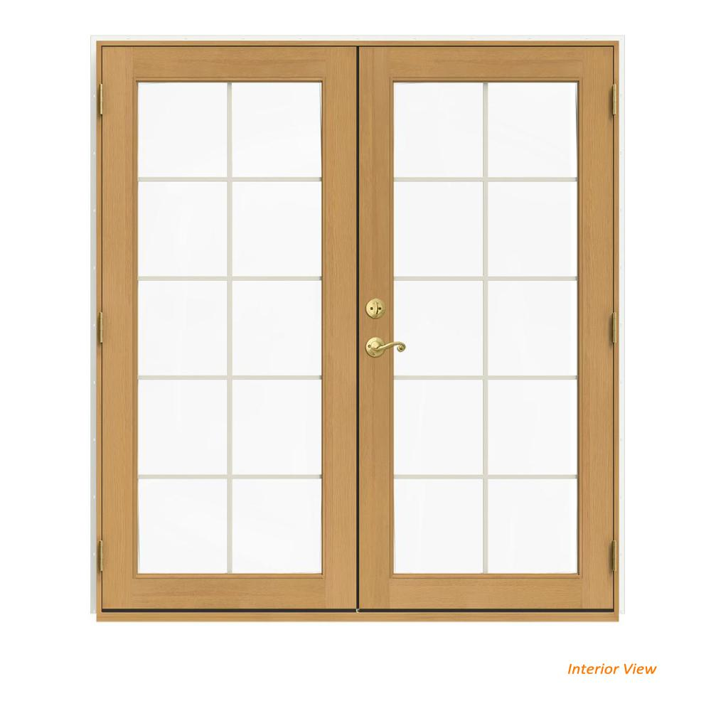 72 in. x 80 in. W-2500 White Clad Wood Left-Hand 10