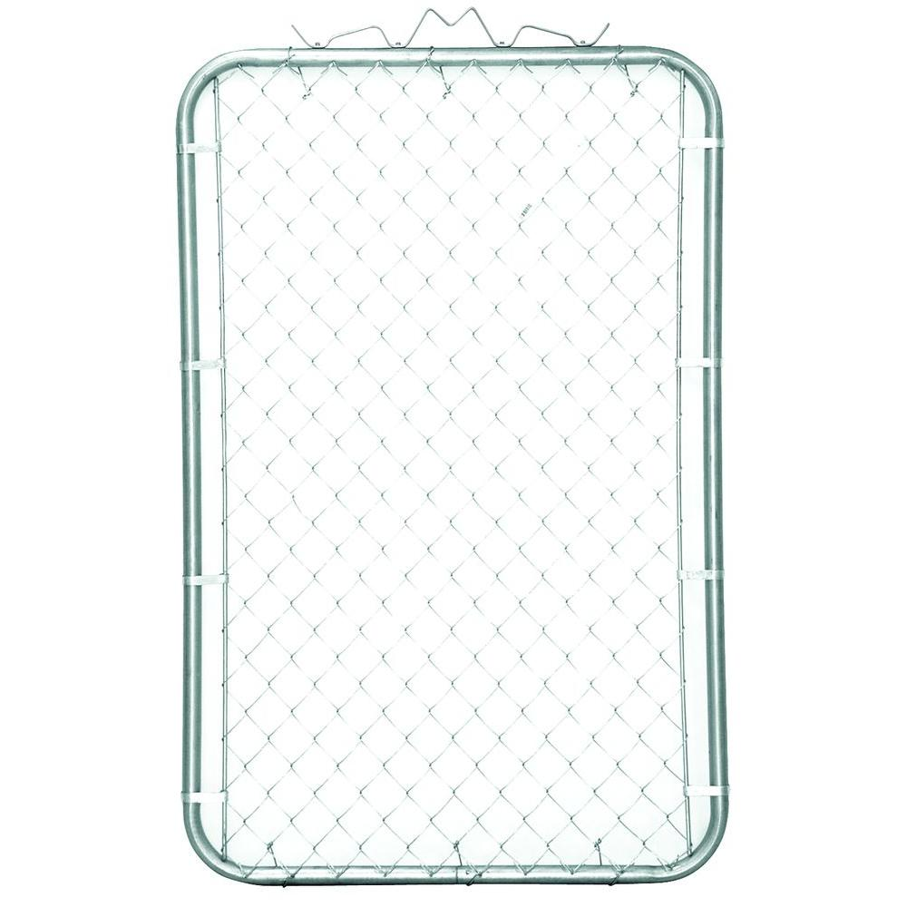 4 Ft X 4 Ft Single Metal Chain Link Fence Gate