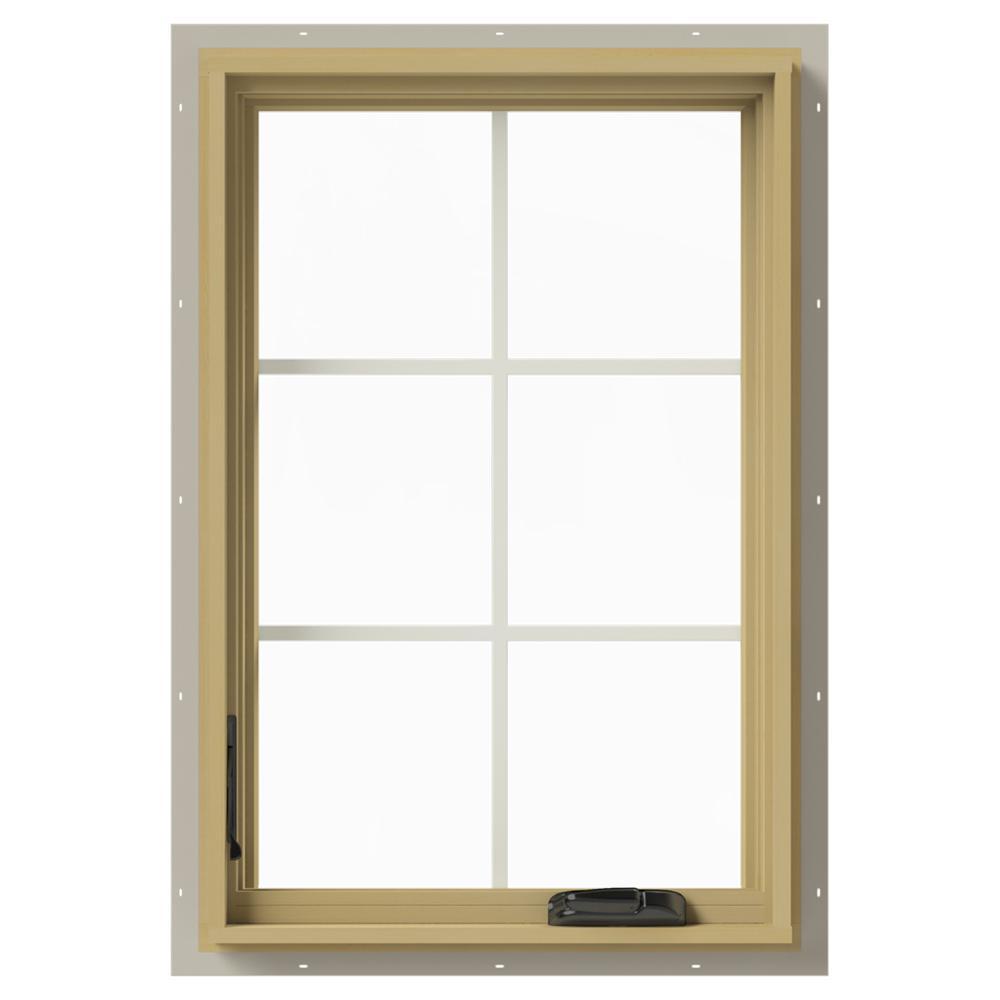 24 in. x 36 in. W-2500 Left-Hand Casement Aluminum Clad Wood