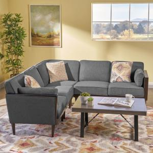 Super Noble House Pembroke Contemporary 5 Piece Dark Gray Fabric Pdpeps Interior Chair Design Pdpepsorg
