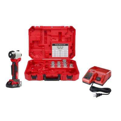 M18 18-Volt Lithium-Ion Cordless Cable Stripper Kit for Cu and Al RHW/RHH/USE Wire Cutting