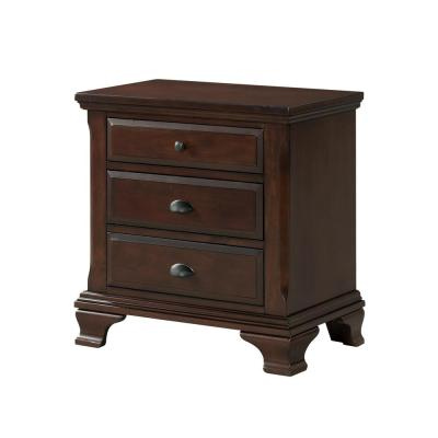 Brinley 3-Drawer Cherry Nightstand