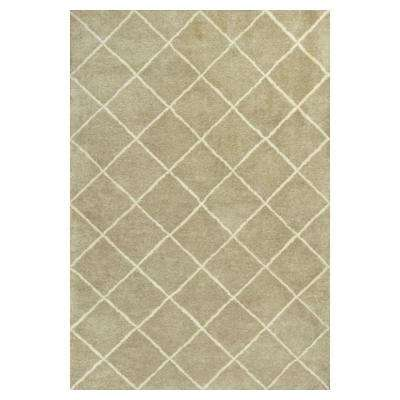 Moroccan Chevron Sage/Ivory 5 ft. x 8 ft. Area Rug