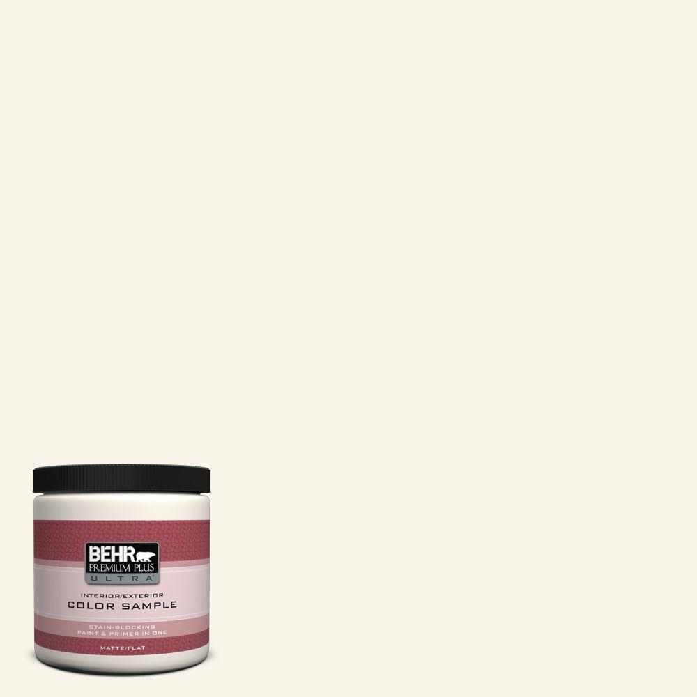 Behr premium plus ultra 8 oz or w15 sleek white interior exterior paint sample ul20016 the for Behr exterior white paint colors