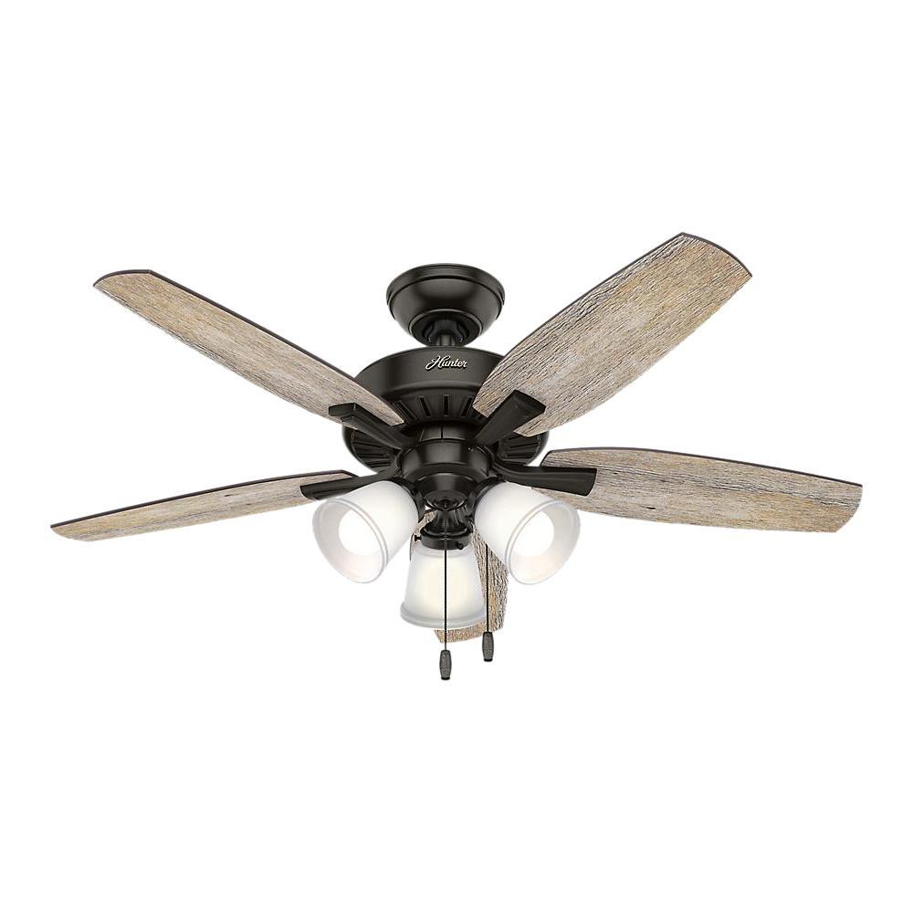Hunter Oakfor 48 in. LED Indoor Noble Bronze Ceiling Fan with Light