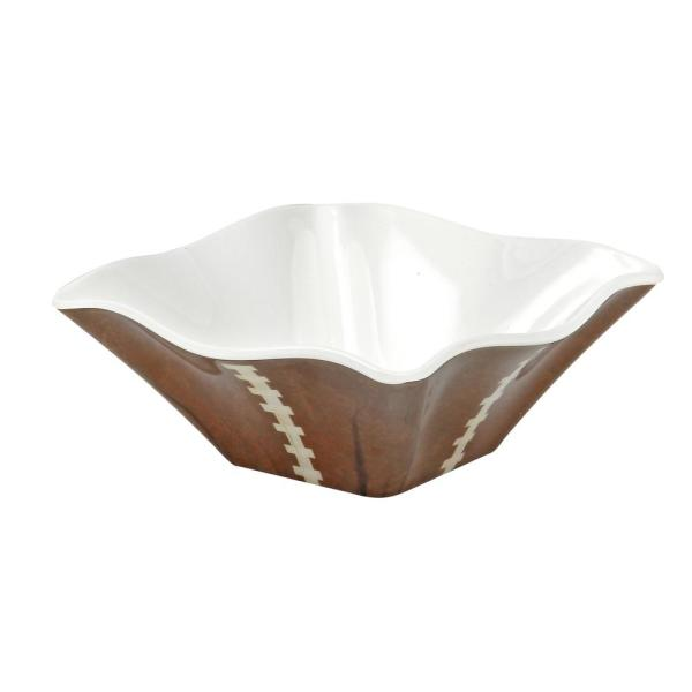 Encore Sports Football 4 in. 4-Piece Brown/White Dip Bowl Set 10665