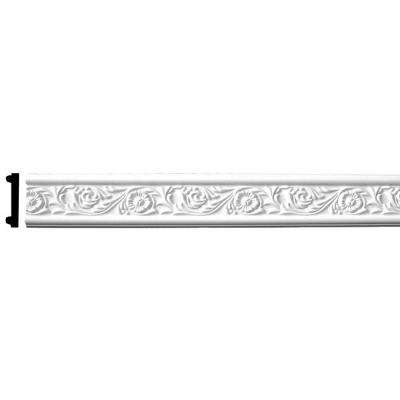 3 in. x 1/2 in. x 94-1/2 in. Floral Polyurethane Panel Moulding