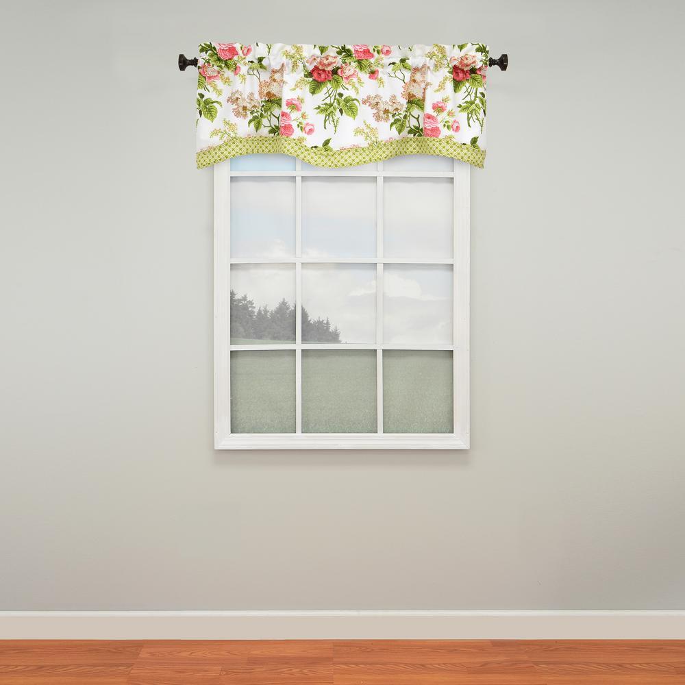 Waverly Emma S Garden Window Valance In Blossom 52 W X 18 L