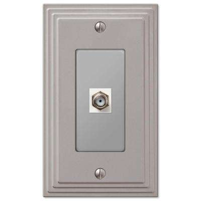 Steps 1 Coax Wall Plate - Nickel