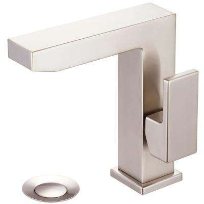Mod Single Hole Single-Handle Bathroom Faucet in Brushed Nickel with Side Handle