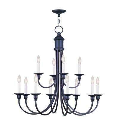 Providence 12-Light Olde Bronze Incandescent Ceiling Chandelier