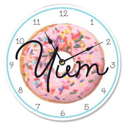 """Yum Time! Donut"" by Daphne Polselli Wall Clock"