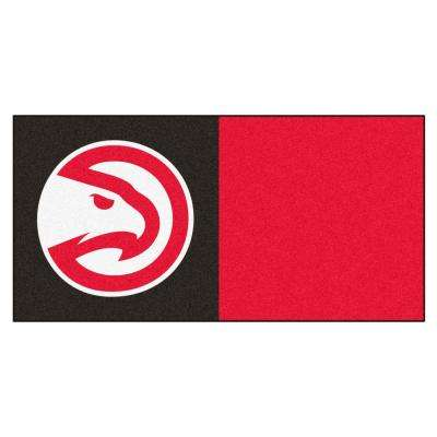 NBA Atlanta Hawks Blue and Red Pattern 18 in. x 18 in. Carpet Tile (20 Tiles/Case)