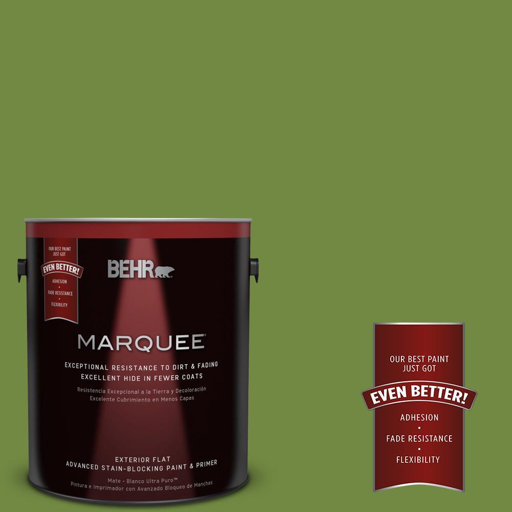 BEHR MARQUEE 1-gal. #MQ4-44 Green Dynasty Flat Exterior Paint