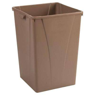Centurian 35 Gal. Beige Square Trash Can (4-Pack)