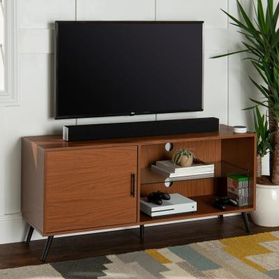 52 in. Acorn Wood TV Stand 55 in. with Glass Doors