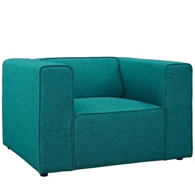 Mingle Teal Upholstered Fabric Armchair