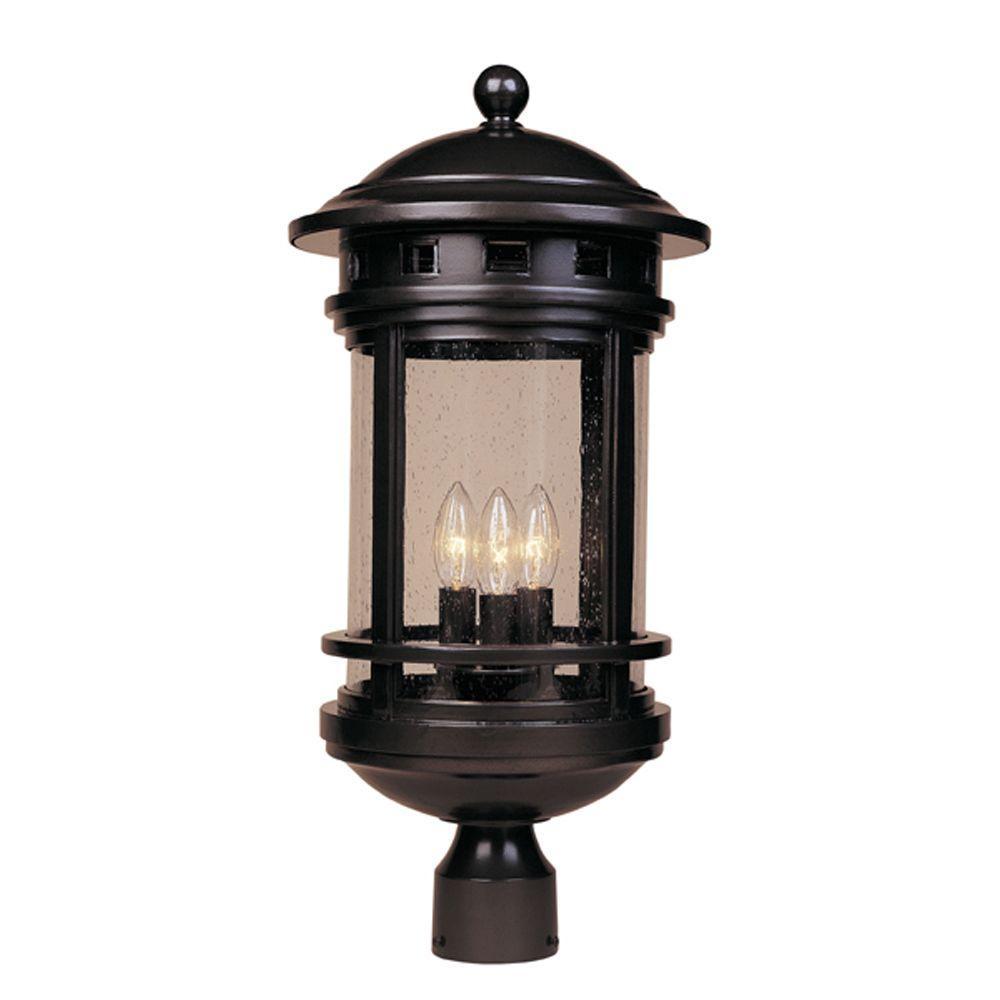 Mesa 3-Light Oil Rubbed Bronze Outdoor Post Lantern
