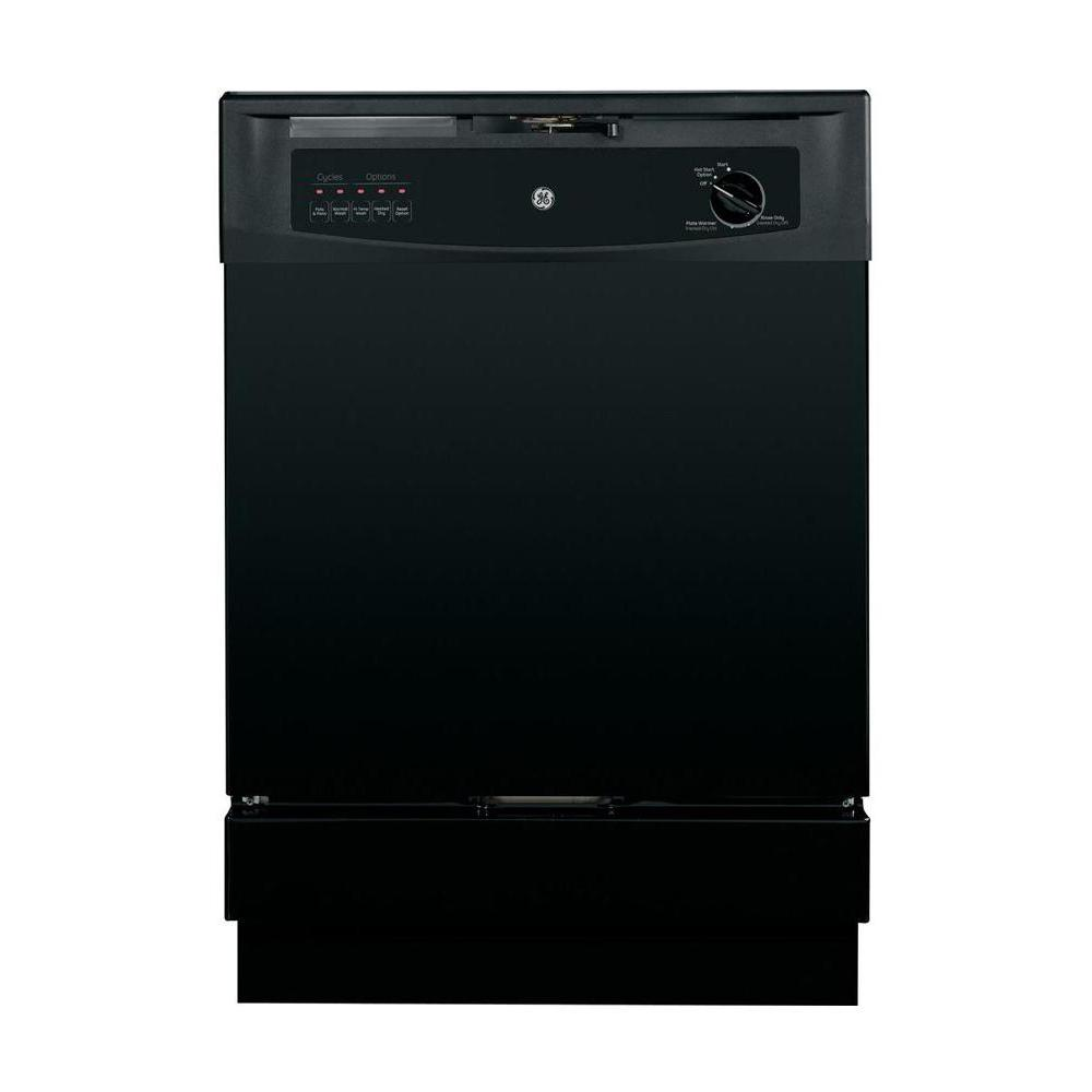 Ge front control dishwasher in black gsd3300kbb the home depot - Built in microwave home depot ...
