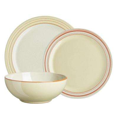 Heritage Veranda 12-Piece Yellow Dinnerware Set