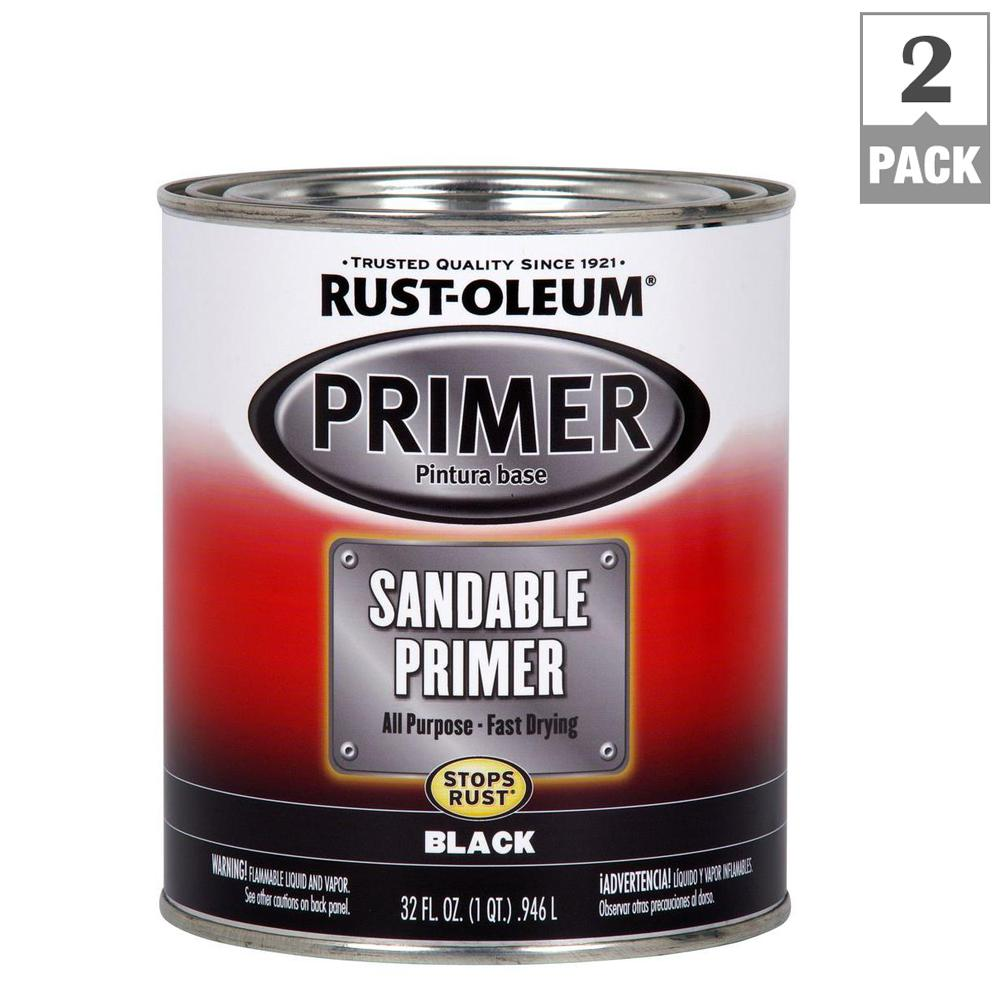 Rust Oleum Automotive 1 Qt Black Sandable Primer 2 Pack