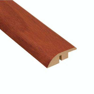 High Gloss Santos Mahogany 1/2 in. Thick x 1-3/4 in. Wide x 94 in. Length Laminate Hard Surface Reducer Molding