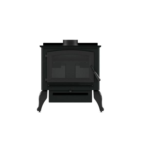2,000 sq. ft. EPA Certified Wood Burning Stove with Cast Iron Legs
