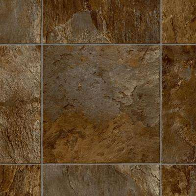 Corata Slate Brown/Grey 13.2 ft. Wide x Your Choice Length Residential Vinyl Sheet Flooring