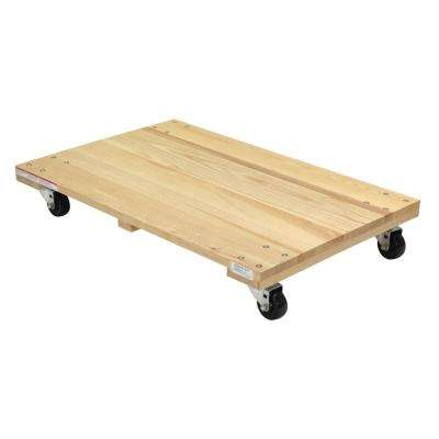 900 lbs. 24 in. x 36 in. Hardwood Dolly-Solid Deck