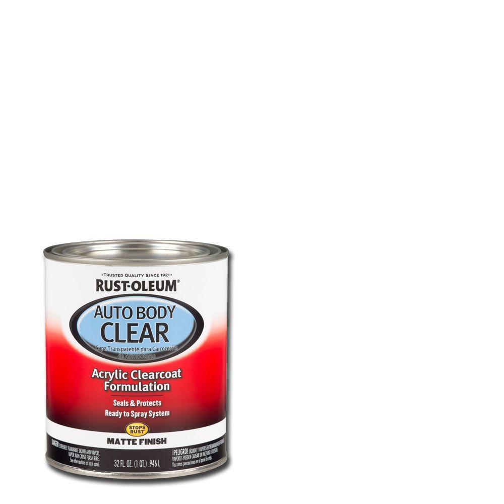 Rust-Oleum Automotive 1 qt. Auto Body Acrylic Lacquer Clearcoat Matte Finish Sealer (Case of 2)