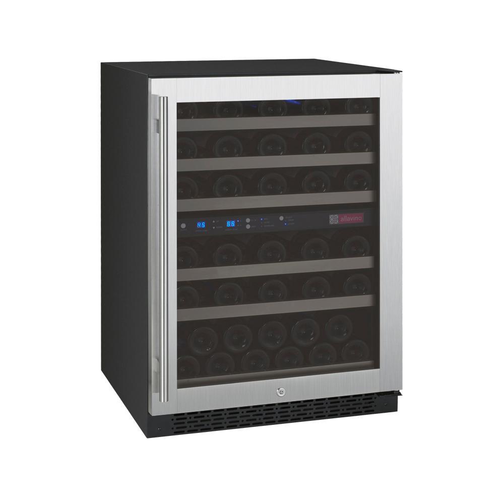Allavino FlexCount II Dual Zone 56-Bottle Built-in Wine Refrigerator