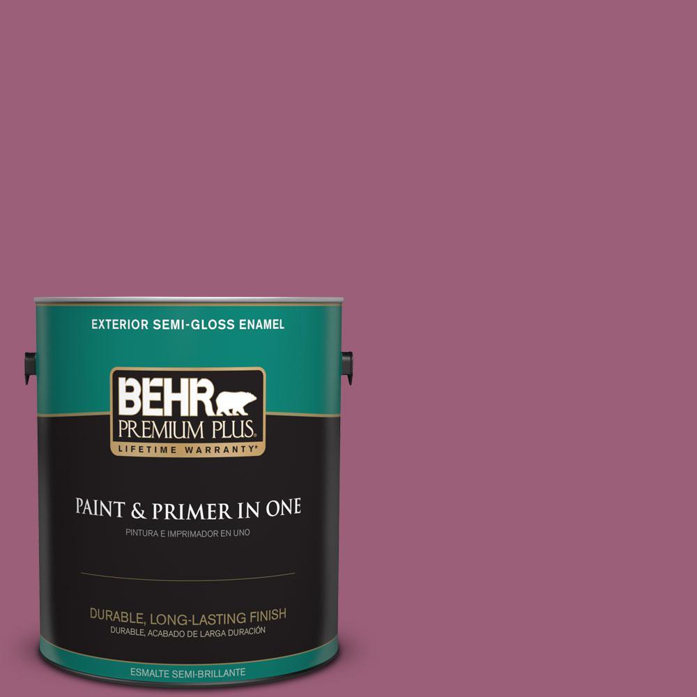 1 gal. #HDC-WR15-2 Passion Plum Semi-Gloss Enamel Exterior Paint