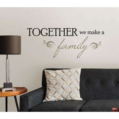 19.5 in. x 17.25 in. Together Wall Decal