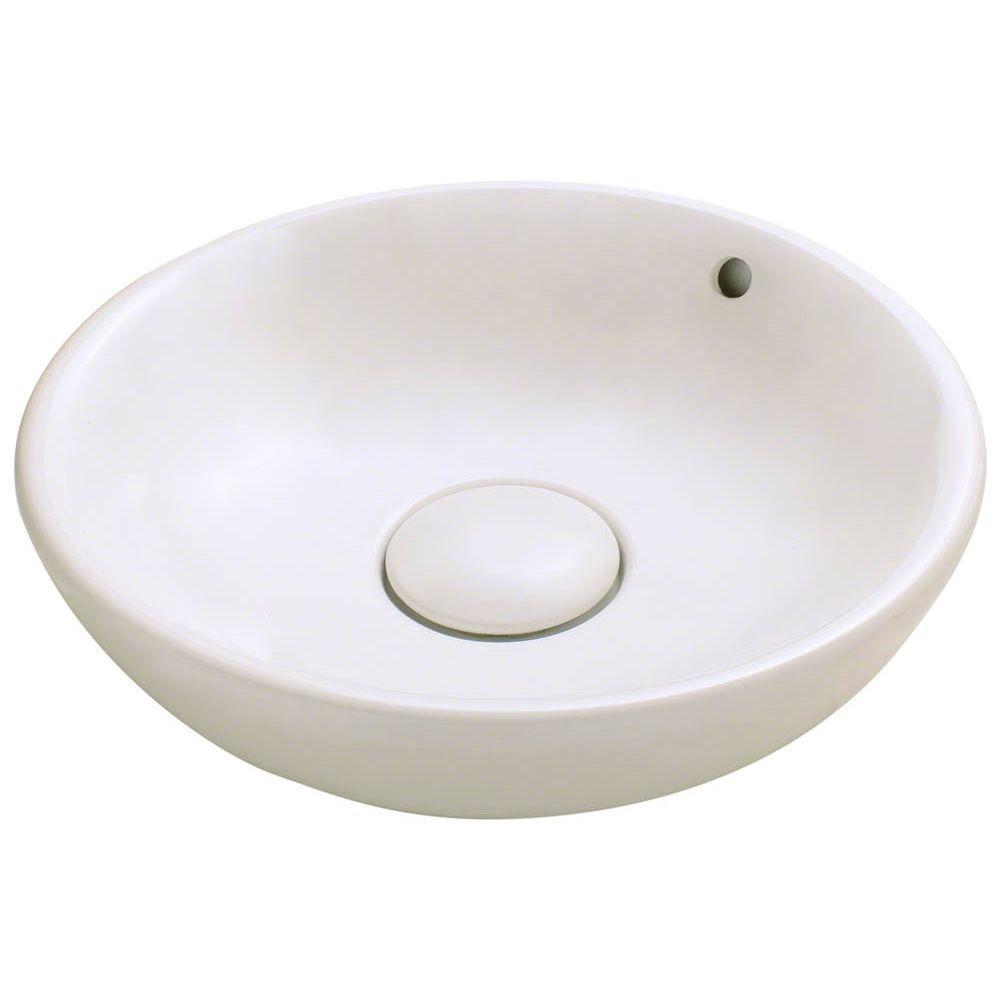 Porcelain Vessel Sink in Bisque