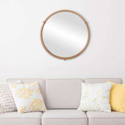 Cut Out Round Gold Decorative Mirror