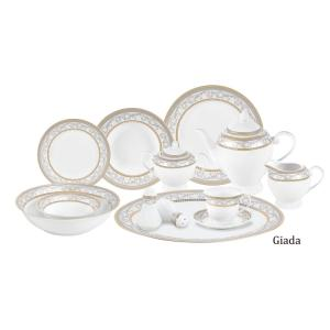5d1495277f75c More Like This. Current Item. 57-Piece Silver Border Porcelain Dinnerware  Set · (0) · Lorren Home Trends ...